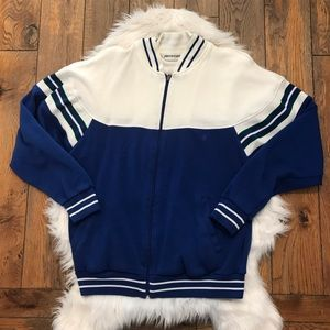 Pierre Cardin Track Jacket Blue And White Sz M